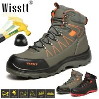 Men Indestructible Safety Shoes Steel Toe Cap Work Boots Hiking Camping Sneakers