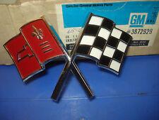 Nose Cross Flag.  NOS GM 3872929.  65-66 Corvette