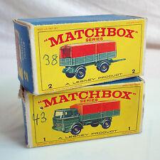 MATCHBOX LESNEY SERIE # 1 + 2 MERCEDES TRUCK + TRAILER  IN OVP