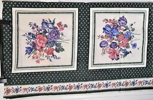 Printed FLORAL cushion panels VIP CRANSTON Print Works Joan Messmore