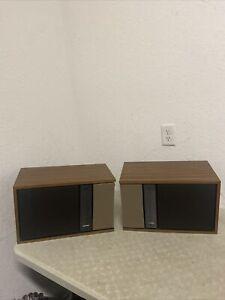 Vintage Bose 301 Series II Stereo Speakers Excellent