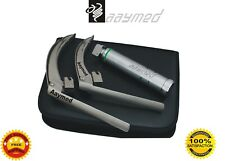 New McCoy Fiber Optic Laryngoscope Flex tip Blade Size 3 & 4 LED Bulb EMS Supply