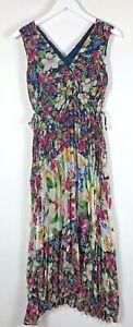 Women's TAYLOR Bright Floral Chiffon Dress Petite Size 4P NEW