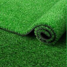 ARTIFICIAL GRASS LAWN GARDEN FAKE REALISTIC ASTRO TURF MATT 15MM PILE DARK NEW