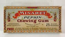 1890s MINARET CIGARETTES CHEWING GUM COUNTERTOP DISPLAY ADVERTISING BOX / CASE
