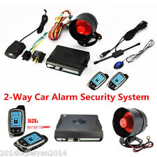 Universal 2-Way LCD Long Distance Controler Car Alarm Security Anti-theft System