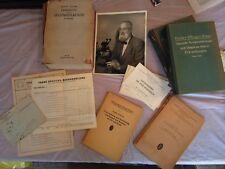 Historical books - neurosurgeon estate Austria 1930s-'40s w/bill of sale,photo