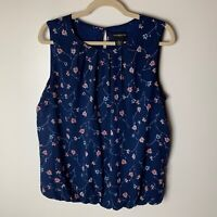 Liz Claiborne Career Women's Sleeveless Top Size Large Floral Lined Casual Work
