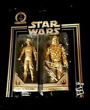 Star Wars RARE Skywalker GOLD COMMEMORATIVE EDITION Saga LUKE CHEWBACCA VHTF NEW