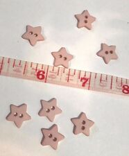25 Buttons Pink Star Sewing Buttons  1/2""
