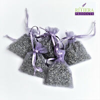 12 High Quality Fresh Lavender in Hand Made Lilac Organza Bags