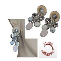 ENTRE GUILLEMETS Boucles d'oreilles plaqué argent émail perle bijou