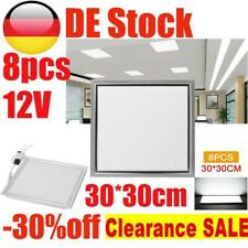 8X 12W LED Panel Deckenleuchte 30x30cm Ultraslim Deckenlampe Kaltweiß 220V