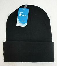 Wholesale 48pc Lot Solid BLACK Beanie Winter Knit Hats Beanies