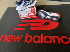 NEW BALANCE MEN'S TURF SHOES T4040TN4,NAVY/WHITE,BASEBALL/COACH SIZE 5 - D-MED