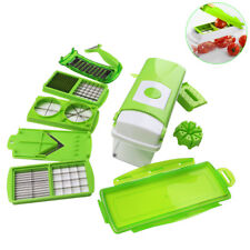 12Pcs/set Vegetable Cutter Set Fruit Onion Chopper Dicer Salad Food Container