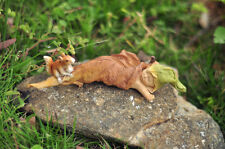 Sleeping Fairy Baby with Squirrel Miniature Garden Figure New tlmg 4136