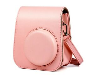 Leather Fujifilm Instax Mini 9 Camera Cover Case with Shoulder Strap and Pocket