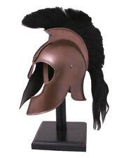Battle Merchant Griechisch Helm aus Troja mit Helmbusch Stahl Römerhelm LARP