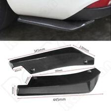 2x Universal Carbon Fiber Look Rear Bumper Lip Winglets Side Skirt Extensions