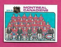 1975-76 TOPPS  # 90 CANADIENS UNMARKED TEAM CHECKLIST NRMT-MT CARD (INV# C4642)
