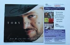 Toby Keith Signed Cd Cover How Do You Like Me Now Jsa Coa