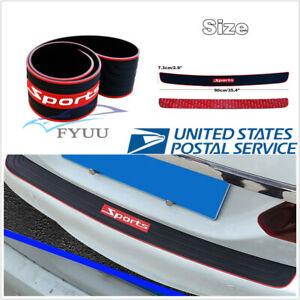 90cm Sport Style Rear Bumper Rubber Scratch Protector Non-slip Strip