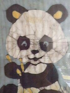 Karen Shand ~ Original Batik Art ~ Panda Bear ~ 1970s