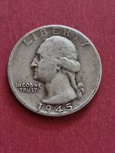 1945 USA Washington Quarter Dollar (900 Silver)