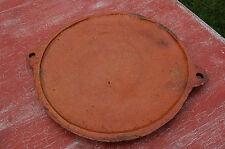 plat en terre cuite vernissée 32,5 cm de diamètre,art populaire,Savoie //C32//