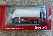 HERPA 1:87//H0 Lebensmittelchromtank-Auflieger 3a unbedruckt #076180 NEU