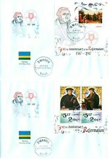 Martin Luther Reformation Calvin Protestantism Rwanda FDC first day covers set