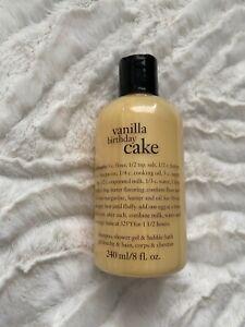 Philosophy Vanilla Birthday Cake 8oz New Shampoo, Shower Gel, Bubble Bath Combo