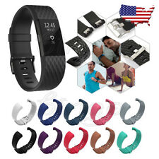Fitbit Charge 2 Replacement Silicone Wristband Activity Sleep Band Fitness 2pack