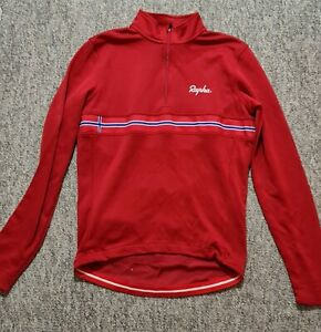 Rapha Norwegian Long Sleeve Country Jersey Red Medium Cycling