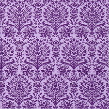 4x Paper Napkins - Royal Damask lilac - for Party, Decoupage Craft