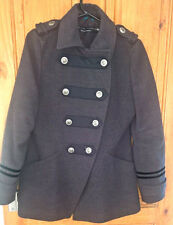 funky/punk/steampunk grey River Island grey military style coat, size 10.