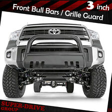 2016-2017 TOYOTA TACOMA Black Bull Bar Front Bumper + Skid Plate Grille Guards
