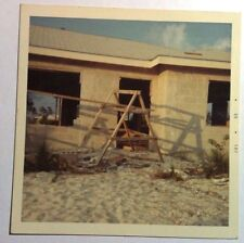Vintage 60s Square Photo Bahamas Building Our New Home On The Beach