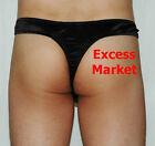 Sexy Men's Hot PVC look See Thru Fishnet Thong Shiny unique underwear