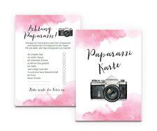 """50 Fotokarten """"Aquarell Hochzeit"""" Hochzeit, Fotoralley Hochzeitsspiel, Fotospiel"""