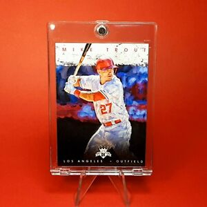 Mike Trout DIAMOND KINGS WHITE JERSEY INSERT ANGELS CARD - W/ CASE