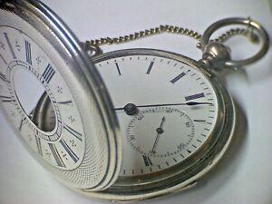 Taschenuhr Dubois Halbsavonette Anker mit Schlüsselaufzug in Silber um 1870