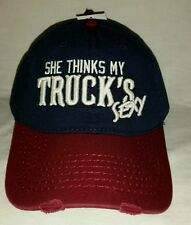 New W/Tag Embroidered She Thinks My TRUCK'S SEXY Sports Ball Cap Hat Snap Back