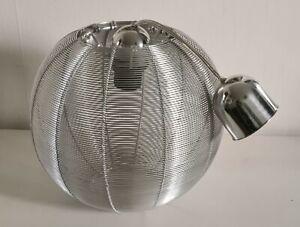 Lustre lampe suspension design Vintage Années 70 métal ajouré