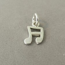 .925 Sterling Silver Small 2 SIXTEENTH NOTES CHARM NEW Music Pendant 925 MC38