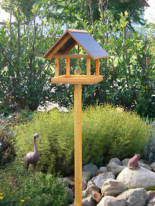 Vogelfutterhaus Vogelhaus Futterhaus Vogelhäuschen Massivholz lasiert wetterfest