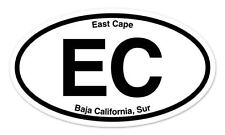 "EC East Cape Baja California Oval car window bumper sticker decal 5"" x 3"""