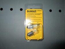 DEWALT DW9043 12V REPLACEMENT FLASHLIGHT BULBS PACK OF 2 NEW