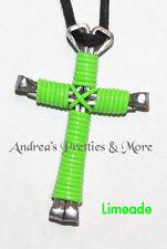 Disciples Cross Horseshoe Nail Necklace Wild Fun Colors - 4 super Fun colors!